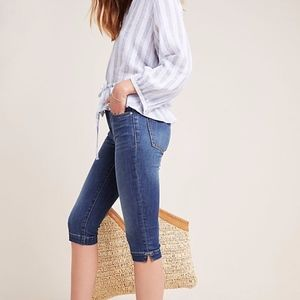 {ANTHRO} Pilcro Mid Rise Skinny Pedal Pusher NWT